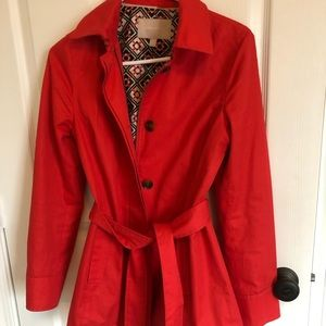 Red Trench Jacket